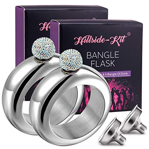132a9a9d067d1 Jual Booze Shot Flask Bangle Bracelet- AB Crystal Lid Creative 304 ...