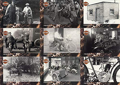 HARLEY-DAVIDSON MOTORCYCLES 1994 SKYBOX COMPLETE BASE CARD SET OF 90 TR