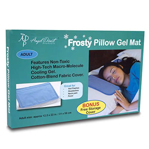 frosty cooling pillow gel mat storage cover best cold pad for night sweats migraines hot flashes fevers neck pain with noleak flexible soft design