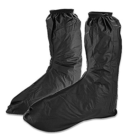 Rain Gear Bike Boot Shoes Cover Gaiter Anti Slip Sole Side Zippered Us Men ((Euro 44-45/US 10-11)) DD-life