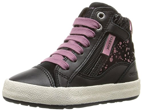 Geox Jr Witty B, Zapatillas Altas Para Niñas Schwarz (BLACK/PURPLEC0037)