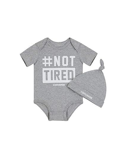 121dddc22161 Converse Infant Bodysuit and Hat Set  Amazon.co.uk  Clothing