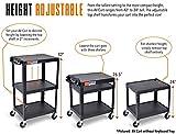 Line Leader AV Cart and Locking Cabinet - Includes