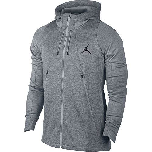 (Jordan Flight Fleece Full-Zip Men's Hoodie Athletic Grey/Grey 688525-012 (Size L))