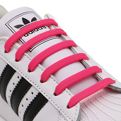 aces for Kids and Adults, Elastic Shoelaces for Sneakers, Silicone Flat Tieless Running Shoe Laces (Fifties Tie)