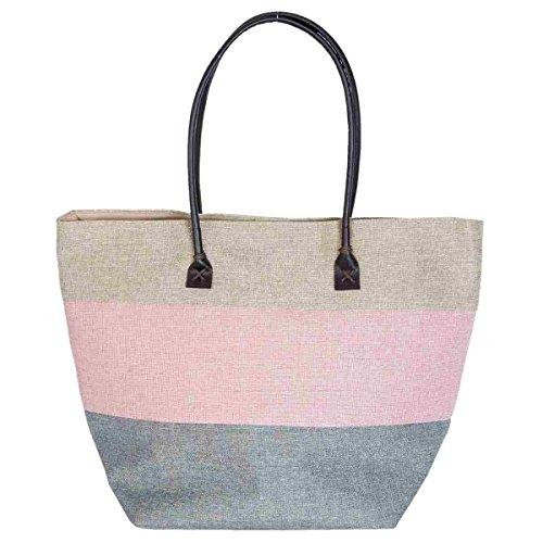 Clayre & Eef bag277Borsa Shopper Borsa da spiaggia borsa per la spesa ca. 30x 23x 37cm