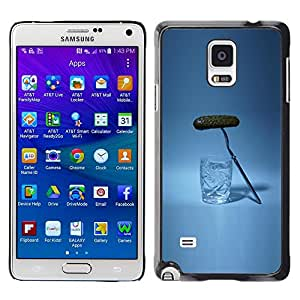 LECELL--Funda protectora / Cubierta / Piel For Samsung Galaxy Note 4 SM-N910 -- Russian Drinking Alcohol Pickle --