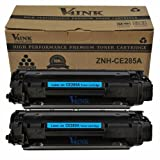 2 Pack V4INK New Compatible HP CE285A 85A Toner Cartridge-Black, Office Central