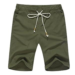 Janmid Men's Linen Casual Classic Fit Short