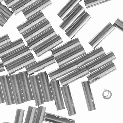 Silver 2mm Twist Tube Beads - 3