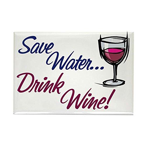 CafePress Save Water Drink Wine Rectangle Magnet Rectangle Magnet, 2
