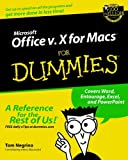 Microsoft Office V. 10 for Macs for Dummies, Tom Negrino, 0764516388