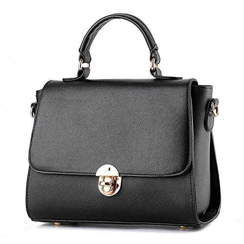 Desklets Womens PU Leather Vintage Stachel Buckle Tote Bags Top Handle - Shopping Mall Tyler