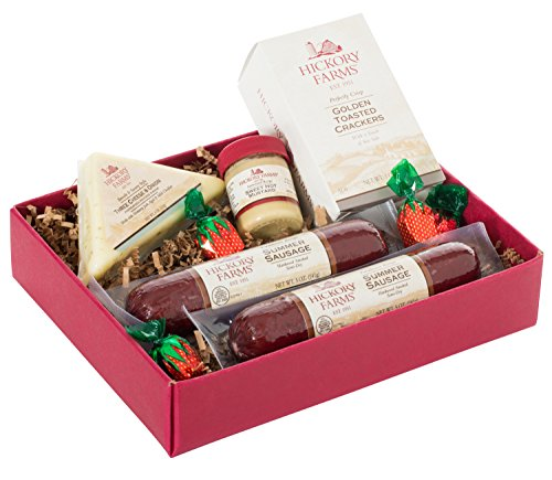 Hickory Farms Double Sausage and Cheese Sampler Gift Set (1.0 Lbs) (Meat Cheese Gift)