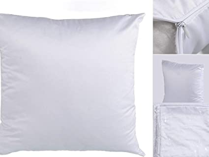 White Sublimation Blank Pillow Covers 16inx16in Fashion Cushion Cover  Polyester with Invisible Zipper for Heat Press Printing (50PCS)