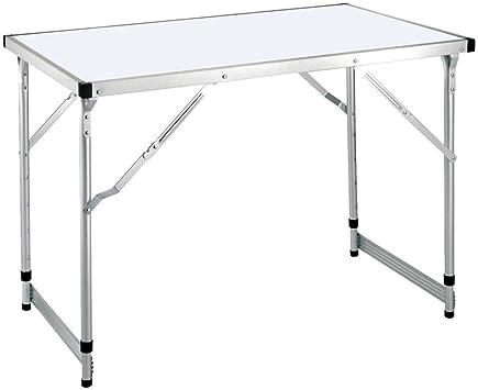 Hummelladen Aluminio Mesa 100 x 60 cm, Altura Regulable, DM, 8,4 ...