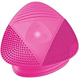 Silicone Sonic Facial Cleansing Brush - Anti Aging Beauty Massager for Normal, Sensitive, Combination Skin. Best Deep Cleaning Exfoliating Scrubber & Waterproof Rechargeable Face Mask Cleanser. PINK