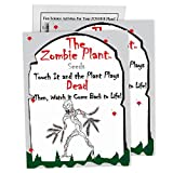 "Zombie Plant Seed Packets (2) Grow Your Real Live Zombie Plant. Watch it""Play Dead"" When Touched! Supplies for Zombie Themed Birthday. Plant Zombie Seeds as an Activity. Great Stocking Stuffer!"