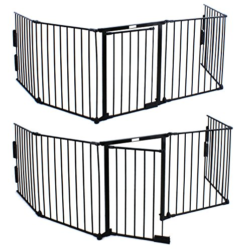 F2c 5 Panels Baby Pet Safety Fence Hearth Gate Fireplace