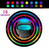 Toilet Light Motion Detection with 16 LED Colors, Sensor Led Toilet Bowl Light - Night Glowbowl Light Detection - As Seen on TV & Great Gift for Mom, Dad, Kids or Potty Training (1 Pack)