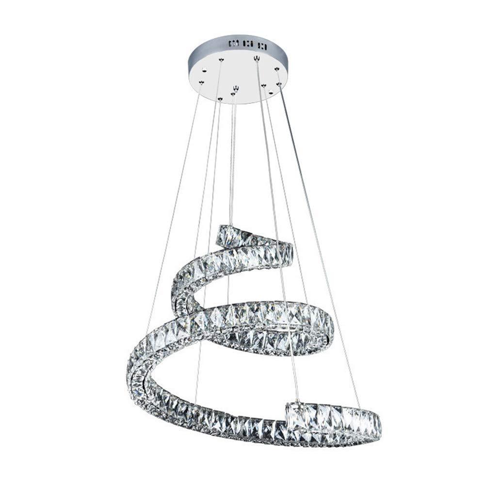 シャンデリアは、クリスタルホームインテリア寝室シンプルなリビングルームクリスタルスチールシャンデリアを照明するためのステンレス吊りランプを導きました B07Q4NZ238 (色 : 暖かい白 Coolwhite) 暖かい白 B07Q4NZ238 暖かい白 暖かい白, ミィーミ(靴のmi-m):7e16f6b5 --- m2cweb.com