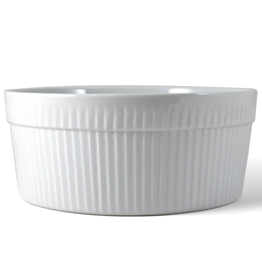 Omniware White Porcelain Souffle Dish, 1 Quart by Omniware