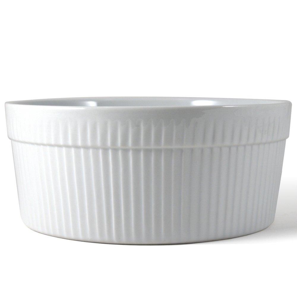 Omniware White Porcelain Souffle Dish, 1.75 Quart by Omniware