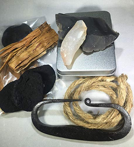 MOAB English Flint Striker KIT, FIRE Steel KIT, EDC, Guy Gift, Outdoor Gear, Survival Man, Viking steels,Scout Camp Tool Set, bushcraft (Frontier) ()