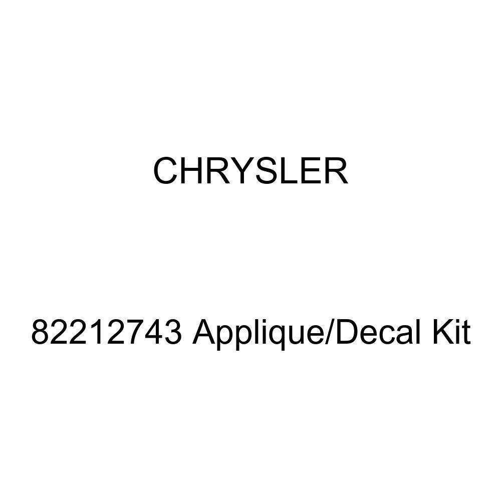 Chrysler Genuine 82212743 Applique//Decal Kit