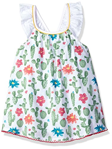 Mud Pie Baby Girls Desert Bloom Flutter Sleeve Casual Dress, Green, 3T (Mud Pie Dresses Girls 3t)