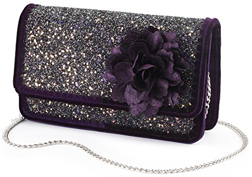 Joe Browns Rebel Purple Clutch Bag