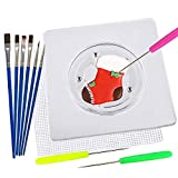 11Pcs Cookie Supplies,Shxmlf Cookie Making Tool Set including Square Acrylic Cookie Turntable with Anti-Slip Silicone Mat, Icing Decorating Needles,Cookies Icing Brushes,Great cookie tools for decorat