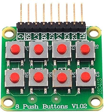 Libertroy Microinterruptor 2 * 4 Teclado matricial Botón de 8 ...