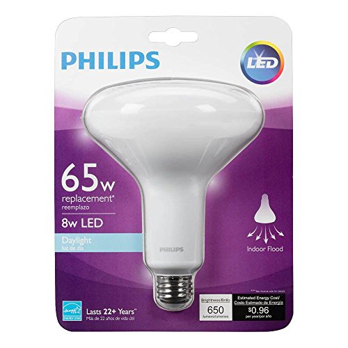 Philips 65W Equivalent Daylight 5000K BR40 Dimmable LED Flood Light Bulb