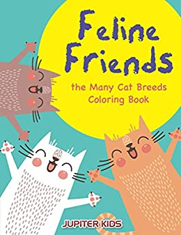 Feline Friends Many Breeds Coloring ebook