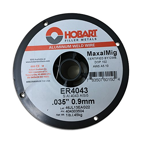 Hobart ER 4043 ALUMINUM MIG Welding Wire .035 X 1 LB SPOOL GENERAL PURPOSE by Hobart