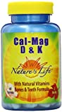 Nature's Life Cal Mag D and K Tablets, 1000/500 Mg, 60 Count