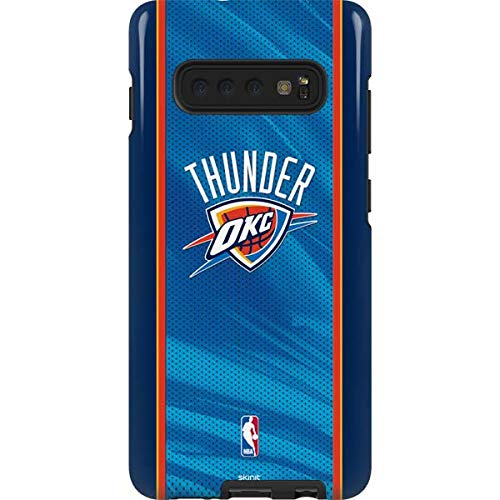 Skinit Oklahoma City Thunder Blue Jersey Galaxy S10 Plus Pro Case - Officially Licensed NBA Phone Case Pro, Scratch Resistant Galaxy S10 Plus Cover