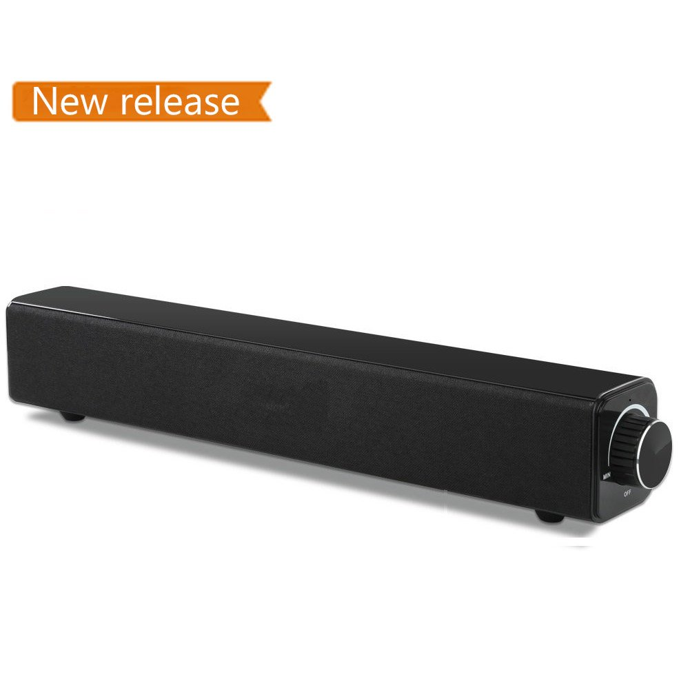 Soundbar, LeStong Bluetooth Home Theater TV Speaker, 20W Wired and Wireless Bluetooth Audio Stereo Surround Sound Bar for TV, PC, Cellphone, Tablets Projector and Wireless Devices by LeStong