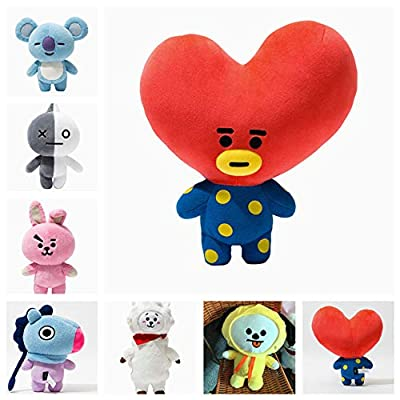 YIAI Kpop BTS Cushion Plush Doll Bangtan Boys Plush Cushion Pillow Warm Bolster Q Back Cute Cartoon Stuffed Doll Toy (Van): Home & Kitchen