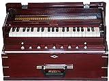 Harmonium BINA 23B, USA, Professional, Folding, Safri, 3 1/2 Octaves, 9 Stops, Rosewood Color, Coupler, Double Reed, Nylon Bag, Book, Indian Musical Instrument, Kirtan (PDI-AGH)