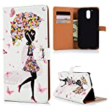MOTO G4 Case,Motorola MOTO G4 Case - Wallet Premuim PU Leather Cute Colorful Print Cartoon Patterns Slim Fit Hard PC Inner Cover with Magnetic Clip & ID/Credit Card Holders by Badalink
