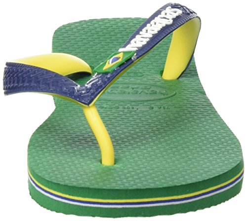 Havaianas Brasil Mix, Chanclas Unisex Adulto Multicolor (Green/Navy Blue 9621)