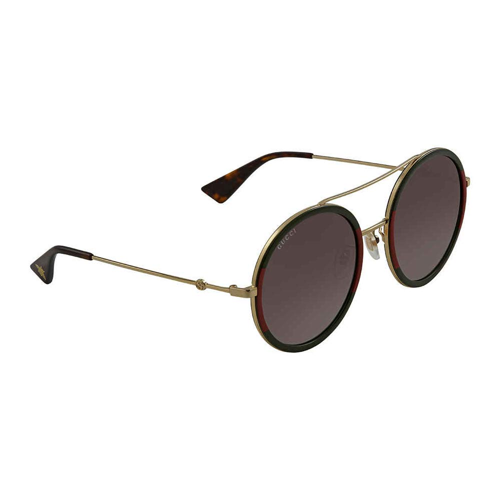 Gucci GG0061S 003 Green/Red/Gold GG0061S Round Sunglasses Lens Category 3 S by Gucci