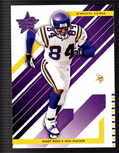 Randy Moss HOF Minnesota Vikings Marshall Thundering Herd Hall of Fame ESPN Analyst 2004 Leaf Rookies & Stars #53 NFL Football Card