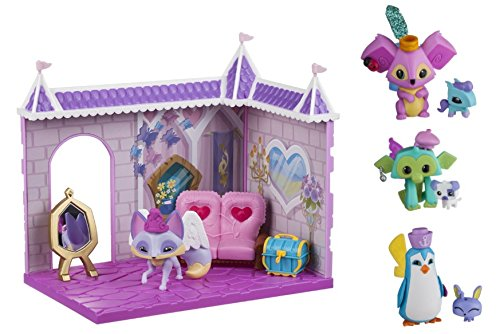 Costume Fox Homemade (Animal Jam Princess Castle Den With Limited Edition Fancy Fox Playset PLUS Cool Koala & Pet Pony, Sir Penguin & Pet Bunny, Lucky Monkey & Pet Puppy Mini Figure)