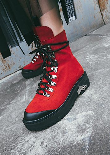 hexiajia - Botas mujer Red