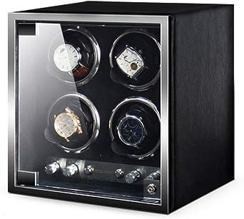 QLL Soporte de Reloj Retráctil Watch Winder Caja Relojes Automaticos Caja Bobinadora Iluminación LED Estuche Relojes 4 Relojes 4 Modos de Rotación 5 Velocidades (Color : B): Amazon.es: Relojes