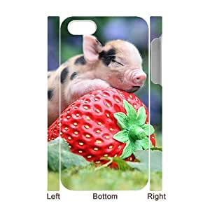 QNMLGB Hard Plastic of Little Pig Cover Phone Case For Iphone 5C [Pattern-1]