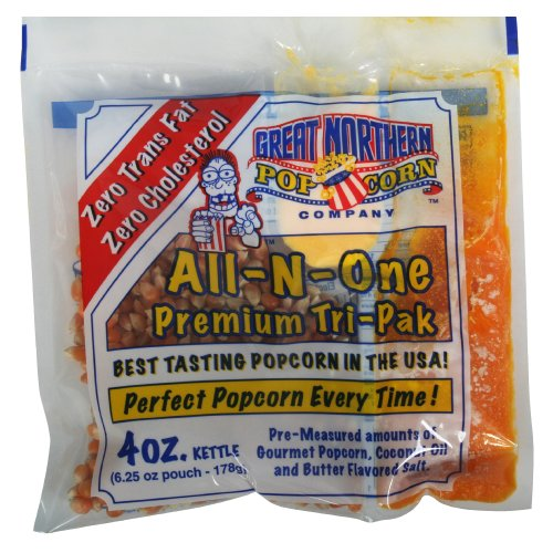 4 ounce popcorn portion packs - 3